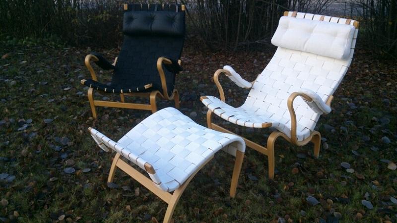 Pernilla-fåtöljer, design Bruno Mathson